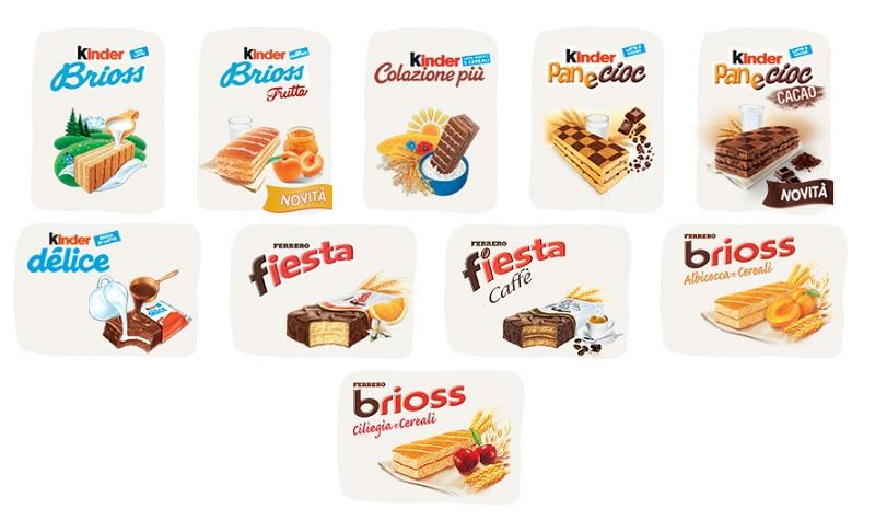 merendine Kinder e Ferrero Un'attenzione in più