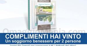 schermata vincita Smartbox Soggiorno Benessere