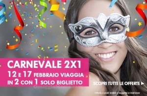 speciale 2x1 Trenitalia Carnevale