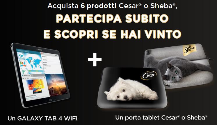 vinci tablet con Cesar e Sheba