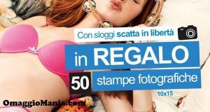 50 stampe fotografiche omaggio da Sloggi