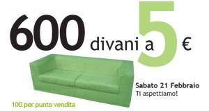 600 divani a 5 euro da Ricci Casa