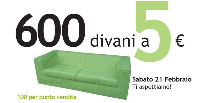 600 divani a 5 euro da ricci casa omaggiomania for Divano enorme