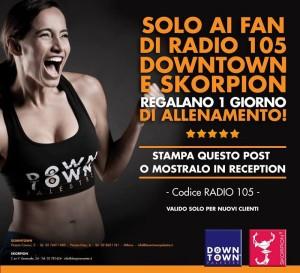 un giorno di allenamento gratis da DownTown palestre con Radio 105