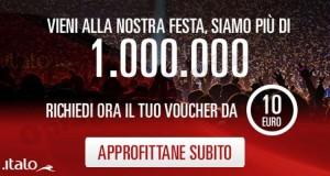buono sconto Italo Treno 10€