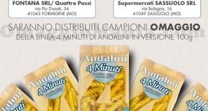 campioni omaggio pasta Andalini 4 Minuti