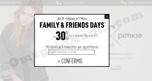 codice sconto Pimkie Family&Friends Days
