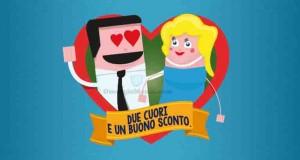 due cuori e un buono sconto Carrefour per San Valentino