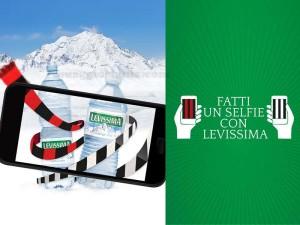 fatti un selfie con Levissima e vinci maglietta Milan o Juventus