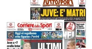 figurine Panini omaggio giornali Tuttosport e Corriere dello Sport