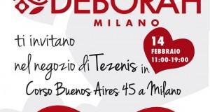 makeup gratuito con Deborah Milano e Tezenis per San Valentino