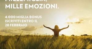 millemiglia Alitalia - 4.000 miglia gratis