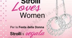 orecchini omaggio Stroili per la Festa della Donna