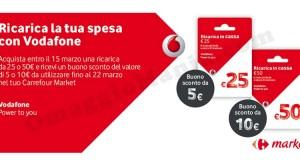 ricarica la tua spesa con Vodafone