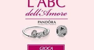 vinci gioiello Pandora con L'ABC dell'Amore