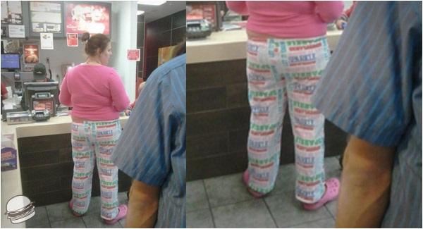 Da McDonald's in pigiama