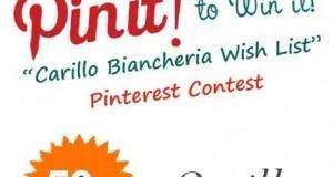 Pinterest Contest Carillo Biancheria