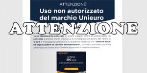 Uso non autorizzato del marchio Unieuro