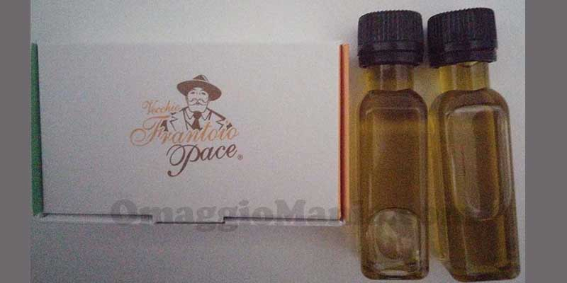 campioni omaggio olio Frantoio Pace ricevuti
