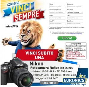 concorso Vinci Sempre Euronics Andreoli
