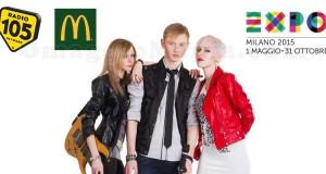 diventa speaker di Radio 105 e McDonald's per Expo Milano 2015