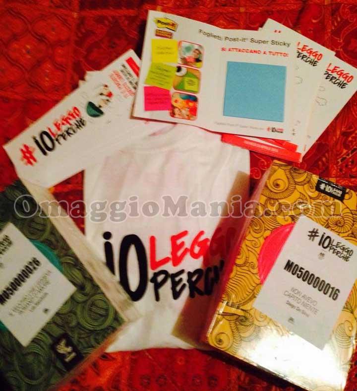 kit libri, segnalibri e post-it #ioleggoperchè