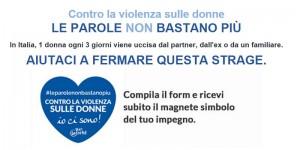 magnete contro la violenza sulle donne