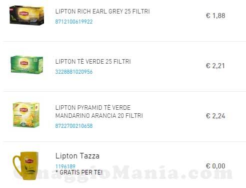 ordine tazza Lipton omaggio