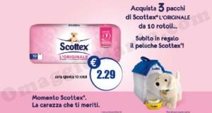 peluche Scottex omaggio