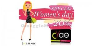 sconto 20% Carpisa per la Festa della Donna