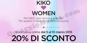 sconto Kiko Festa della Donna