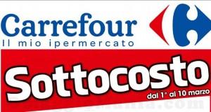 sottocosto Carrefour fino al 10 marzo