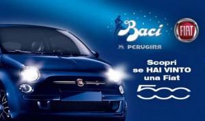 vinci FIAT 500 con le uova Baci Perugina