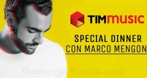 vinci cena con Marco Mengoni