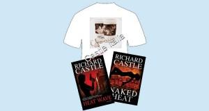 vinci libri Castle e maglietta autografata