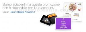 Amazon codice promozionale buoni regalo no
