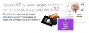 Amazon codice promozionale buoni regalo ok