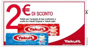 buono sconto Yakult Original e Yakult Light