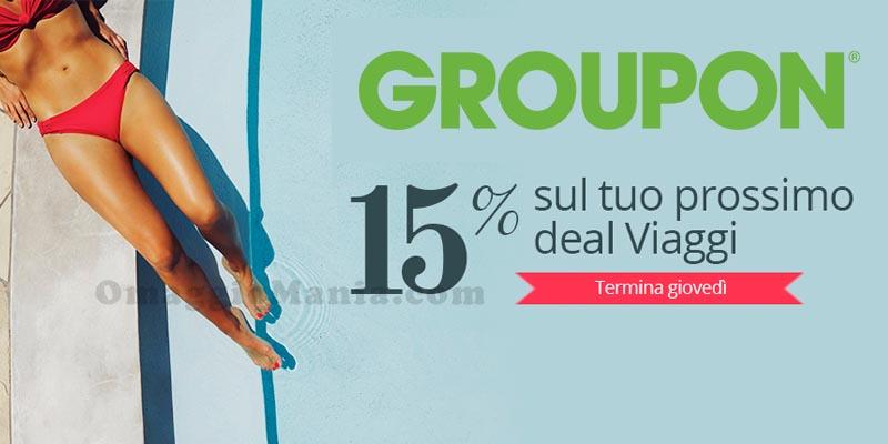codice sconto Groupon sui deal viaggi