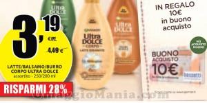 coupon Bassetti senza minimo di spesa con Garnier Ultra Dolce