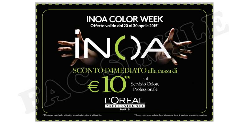 coupon Inoa Color Week