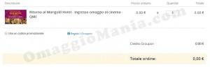 esempio acquisto biglietti omaggio Groupon