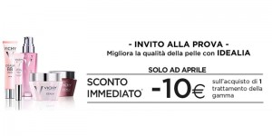 invito alla prova Idealia sconto immediato