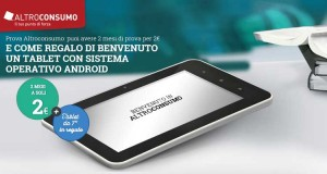 offerta Altroconsumo tablet omaggio