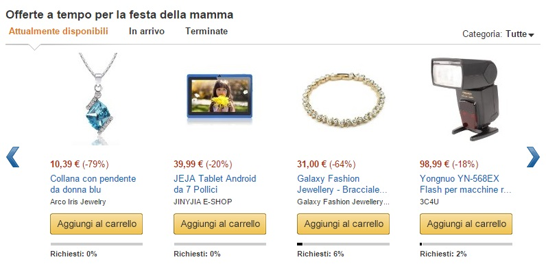 offerte Festa della Mamma su Amazon