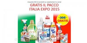 pacco di detersivi Italia Expo 2015 omaggio