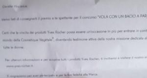 rossetto Yves Rocher Brillantezza Vegetale vinto da Carola
