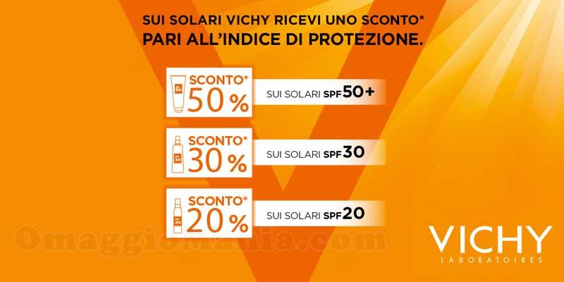 sconto solari Vichy pari all'indice di protezione
