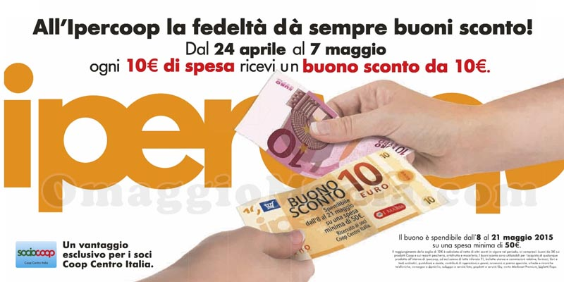 spendi e riprendi Coop Centro Italia