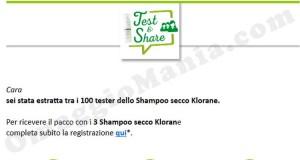 tester shampoo secco Klorane